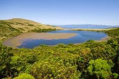 Lake Sant Jorge. Pico ö Arkivbild