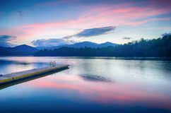 Lake santeetlah in great smoky mountains north carolina Royalty Free Stock Photos
