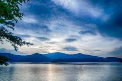 Lake santeetlah in great smoky mountains north carolina Royalty Free Stock Photo