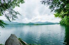 Lake santeetlah in great smoky mountains north carolina Royalty Free Stock Photos