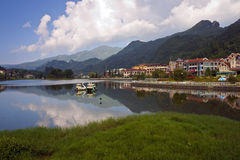 Lake in Sapa. SAPA, VIETNAM - AUGUST 10: Lake in town centre on August 10, 2012 in Sapa, Vietnam.Sapa, settled by French colonial on the early 20th century, is a royalty free stock photos