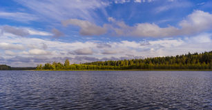 Lake sargut in Tver region Royalty Free Stock Photos