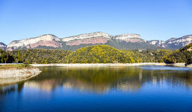 Lake Sau in Barcelona Spain Panoramic Photography Stock Photography