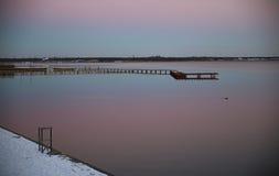 Lake in Saxony, Germany. Lake of Goitse, grosser-Housese in Saxony, Bitterfeld, Germany in winter royalty free stock photography