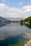 Lake of Scanno. In the national park (Aq Royalty Free Stock Image