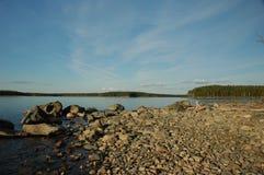 Lake scape. Karelian lake, Russia Royalty Free Stock Photos