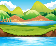 Lake scene Royalty Free Stock Photography