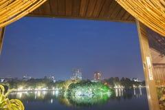 Lake scene at night. Royalty Free Stock Images
