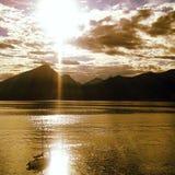 Lake scene stock photography