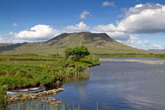 Lake scenery. Lake in Connemara Mountains - Ireland Stock Photo