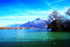 Lake scenery Royalty Free Stock Image