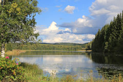 Lake Scenery in Central Finland Royalty Free Stock Photo