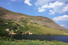 Lake Scenery in Colorado Mountains. Lake at Rollins Pass in Colorado Mountains backcountry Royalty Free Stock Photos