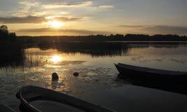 Lake scenery Stock Images