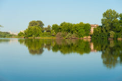 Lake scenery at morning Royalty Free Stock Images