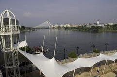 lake sceniska putrajaya Royaltyfria Foton