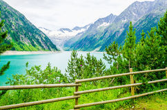 Lake Schlegeis, Zillertal Alps, Austria Stock Photo