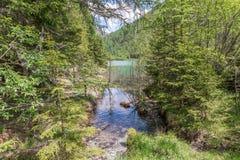 Lake Schlierer in the Natur park Riedingtal Zederhaus, Austria.  stock photos
