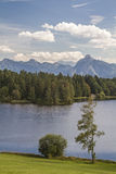 Lake Schwalten in Allgaeu Stock Photo
