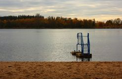Lake after season Stock Image