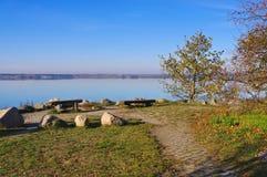 Lake Sedlitz in  Lusatian Lake District Royalty Free Stock Images