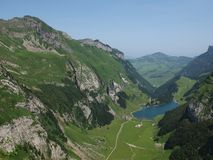 Lake Seealpsee in Appenzell. Switzerland stock photos