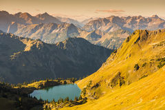 Lake Seealpsee in the dawn Royalty Free Stock Images