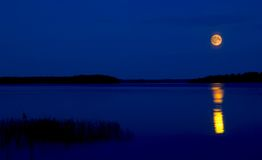 Lake Seliger. In the evening. Russia Stock Images