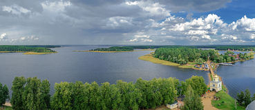 Lake Seliger from a height Royalty Free Stock Image