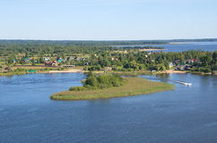 Lake Seliger and the Islands Royalty Free Stock Photo