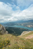 Lake of Serre Poncon in Alps Stock Images