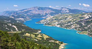 Lake of Serre-Poncon (French Alps) Stock Image
