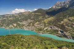 Lake of Serre-Poncon (French Alps) Royalty Free Stock Photo