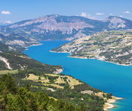 Lake of Serre-Poncon (French Alps) Royalty Free Stock Image