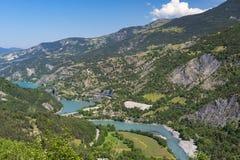 Lake of Serre-Poncon (French Alps) Royalty Free Stock Photos