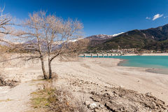 Lake Serre-Poncon, Hautes-Alpes, France Stock Photo