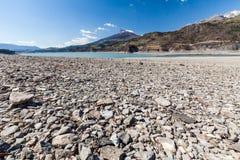 Lake Serre-Poncon, Hautes-Alpes, France Stock Image
