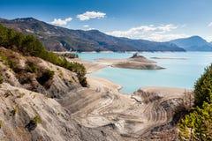 Lake Serre-Poncon, Hautes-Alpes, France Royalty Free Stock Photos