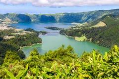 Lake of Sete Cidades in Sao Miguel Royalty Free Stock Photos
