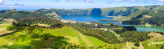 Lake of Sete Cidades in Sao Miguel Royalty Free Stock Photos