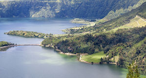 Lake of Sete Cidades in Sao Miguel Stock Images