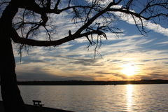 Lake setting. Taken at Weatherford Lake, East of Weatherford. 19 miles from downtown Fort Worth. Surface area is approx 1,158 acres, Maximum depth is 39 feet Stock Photography
