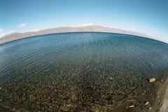 Lake Sevan. Lake Sevan on background of the mountains,  Armenia Royalty Free Stock Photo