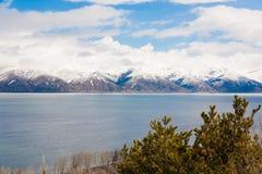 Lake Sevan spring day Stock Photo