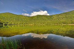 Lake Sfânta Ana - cloud reflection. Stock Photography