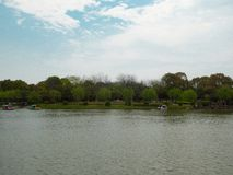 A lake at shanghai flower port Stock Image