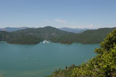 Lake Shasta royalty free stock image