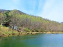 Lake in the Shenandoah Mountains. This lake is surrounded by the Shenandoah mountains Stock Image