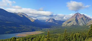 Lake Sherburne Glacier National Park Early Morning. Montana USA Royalty Free Stock Images