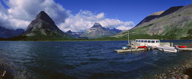 Lake Sherburne, Glacier National Park, Montana Stock Image